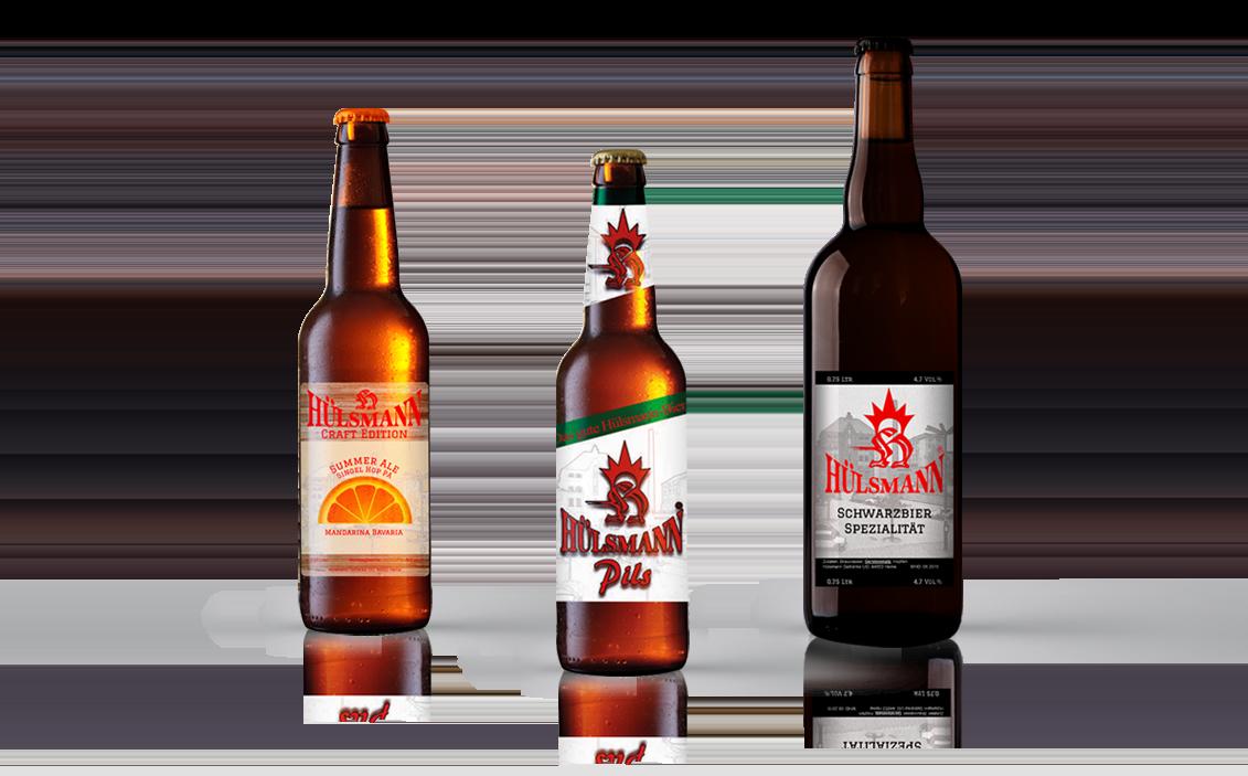 Hülsmann Pils, Summer Ale und Schwarzbier Spezialität